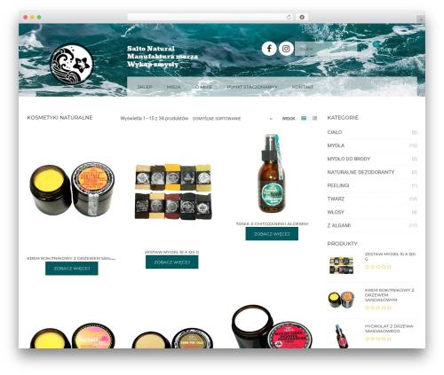 Kute Boutique WordPress theme design - saltonatural.com