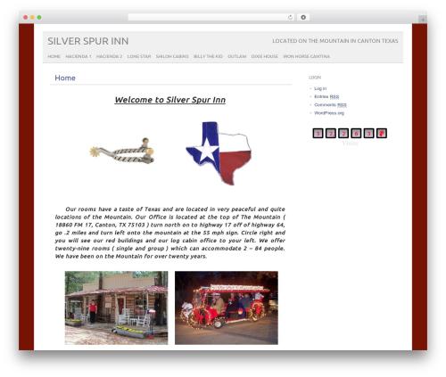 picolight WordPress page template - silverspurinn.com