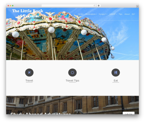 Pinnacle free WordPress theme - thelittlebookoftravels.com