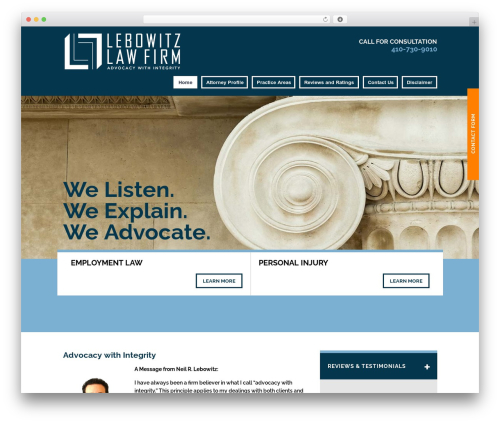Project X v15 WordPress template for business - lebowitzlegal.com