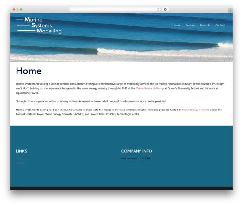 Sydney free WordPress theme - marinesystemsmodelling.com