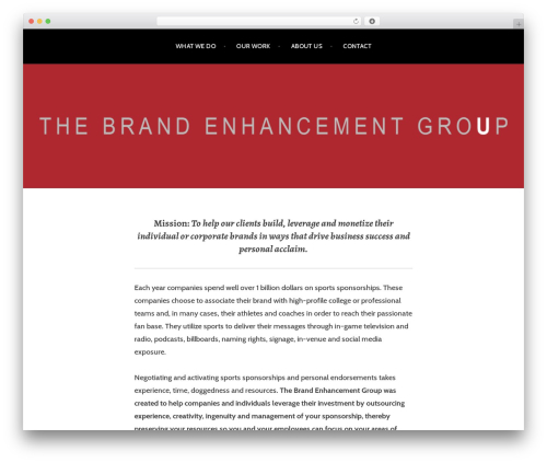 Argent free WordPress theme - thebrandenhancementgroup.com/site