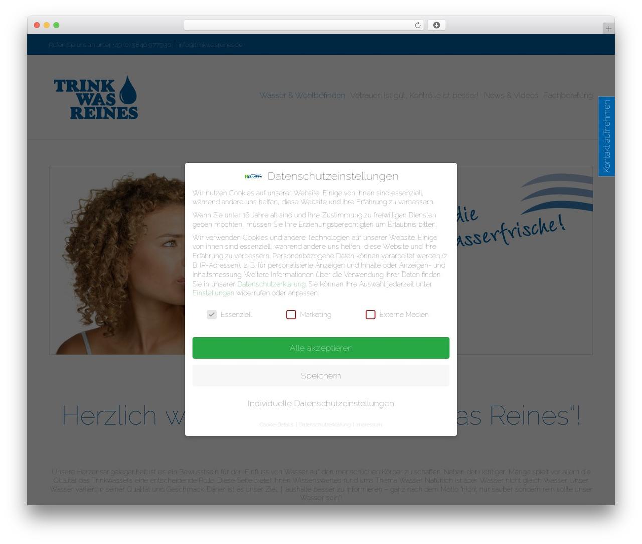 Avada WordPress theme design - trink-was-reines.de