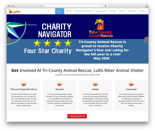 BusiProf Pro WordPress theme - tricountyanimalrescue.com