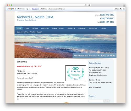 Customized premium WordPress theme - techcpa.com