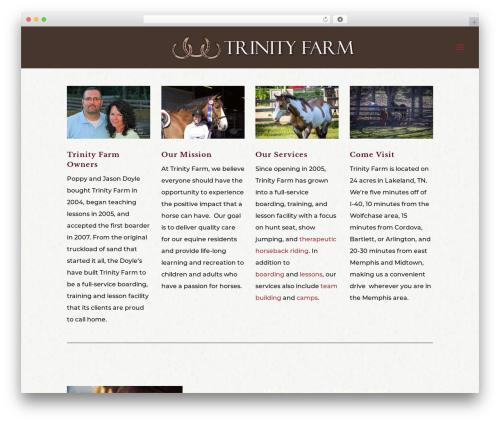 Divi WP template - trinityfarmtn.com