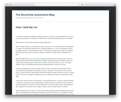 Enterprise Lite free WordPress theme - themccartneysblog.com