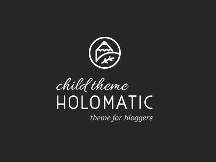 Holomatic Child WordPress blog theme