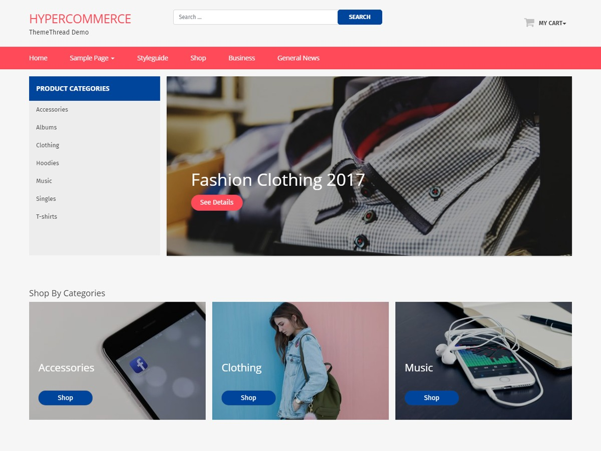 Hyper Commerce WordPress ecommerce template