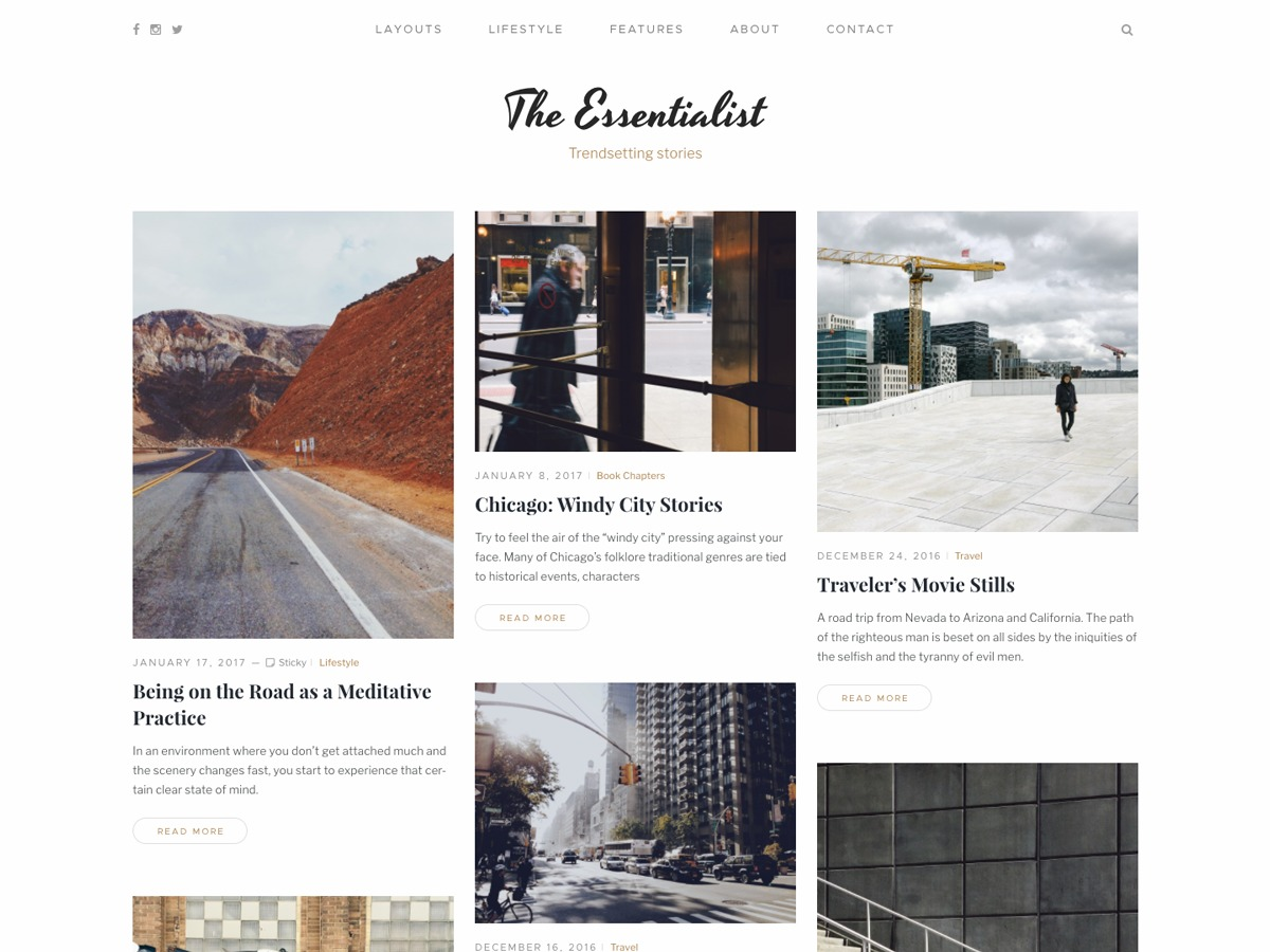 Mauer Essentialist WordPress blog template