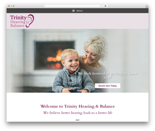 Merriweather WordPress website template - trinityhearingandbalance.com