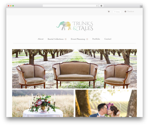 Mystile WordPress wedding theme - trunksandtales.co