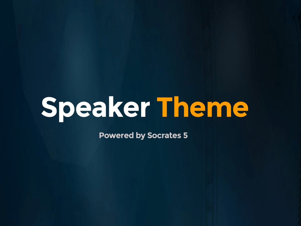 Speaker Theme WordPress blog template