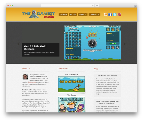 Swatch WordPress gaming theme - thegamest.com