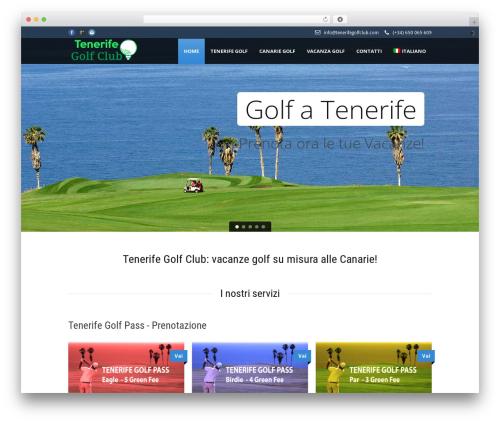 Tour Package best hotel WordPress theme - tenerifegolfclub.com