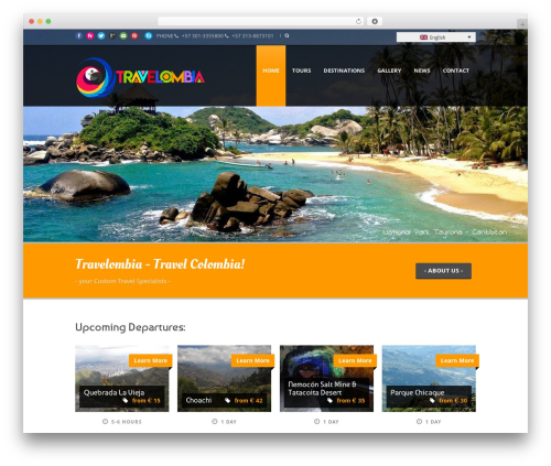 Tour Package WordPress travel theme - travelombia.com