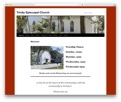 Twenty Ten WordPress theme - trinitymelrosefl.org
