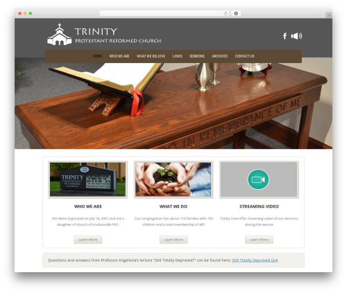 Twenty Twelve best free WordPress theme - trinityprc.org