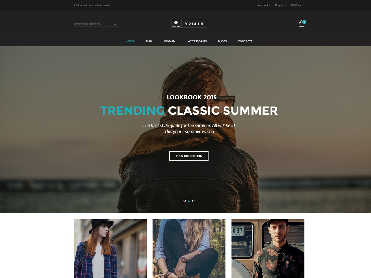 Voisen WordPress ecommerce template