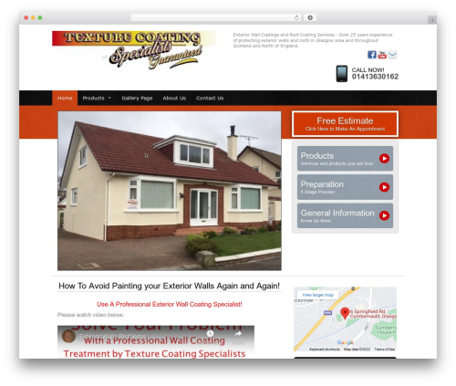 Web Weaver Elite 501 premium WordPress theme - texturecoatings.co.uk