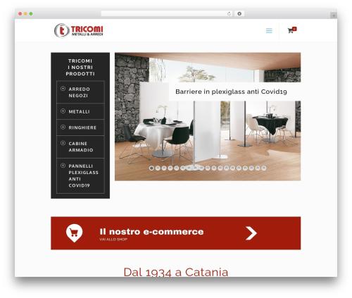 WordPress theme Betheme - tricomimetalli.com