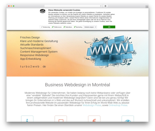 WordPress theme DMS - turbo2web.de