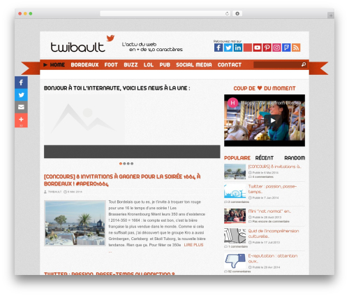 WordPress theme Reporter - twibault.com