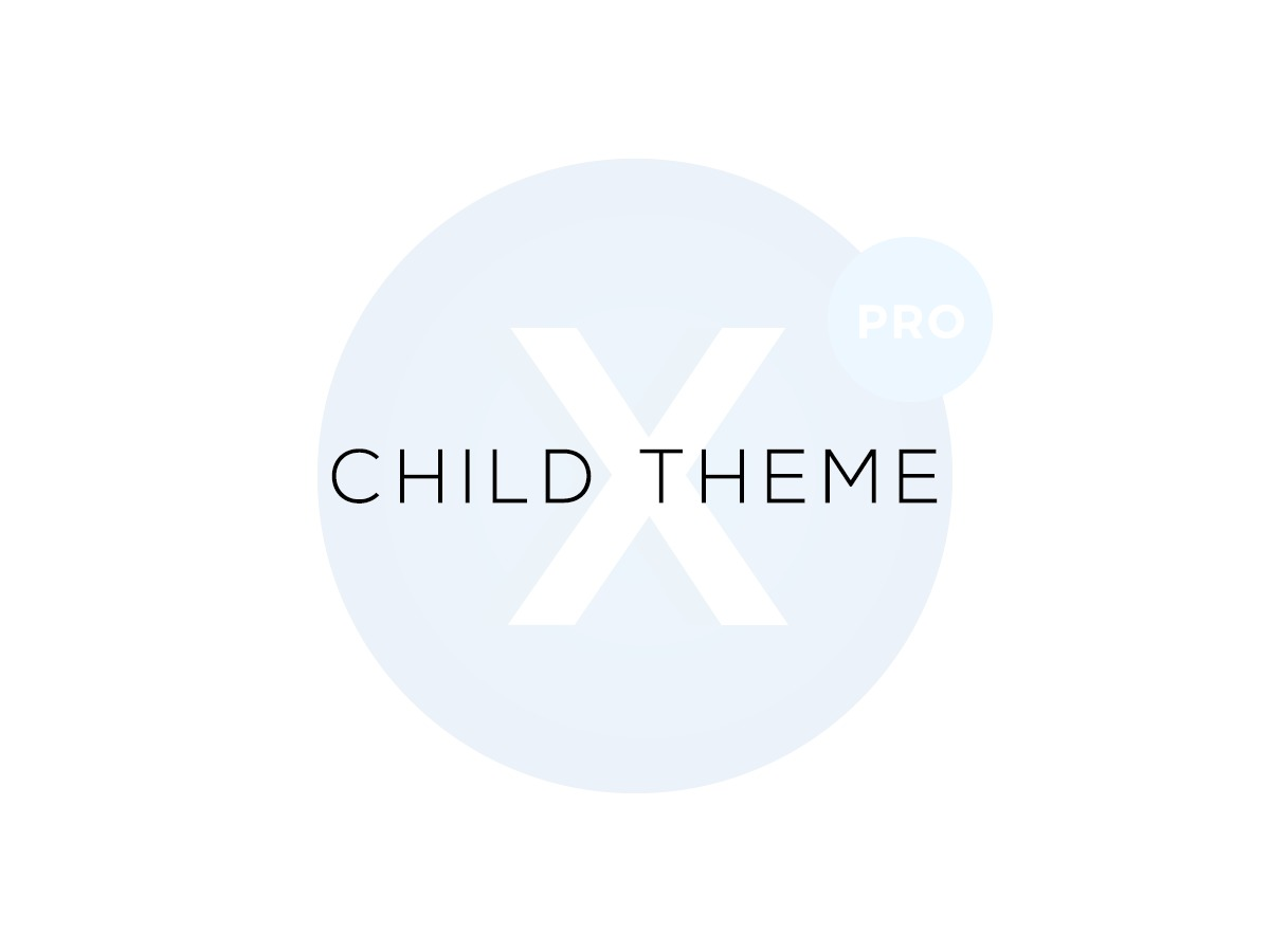 X Pro – Child Theme WordPress page template
