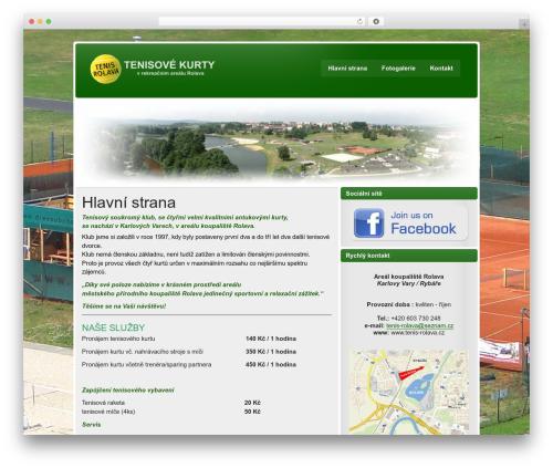 zeeStyle WordPress website template - tenis-rolava.cz