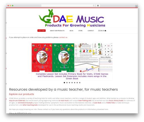 Conica template WordPress free - gdaemusic.com