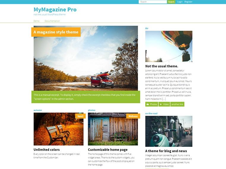 MyMagazine Pro WordPress news theme
