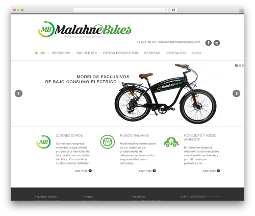 WordPress theme Nevada - malahnebikes.com