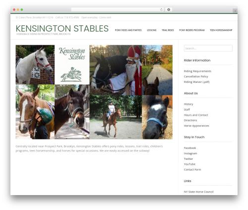 Conica free WordPress theme - kensingtonstables.com