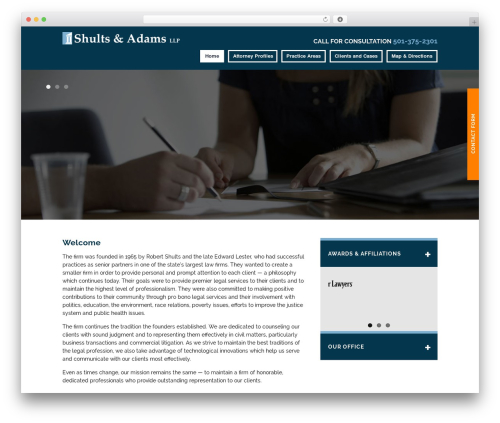 Project X v15 WordPress template for business - shultslaw.com