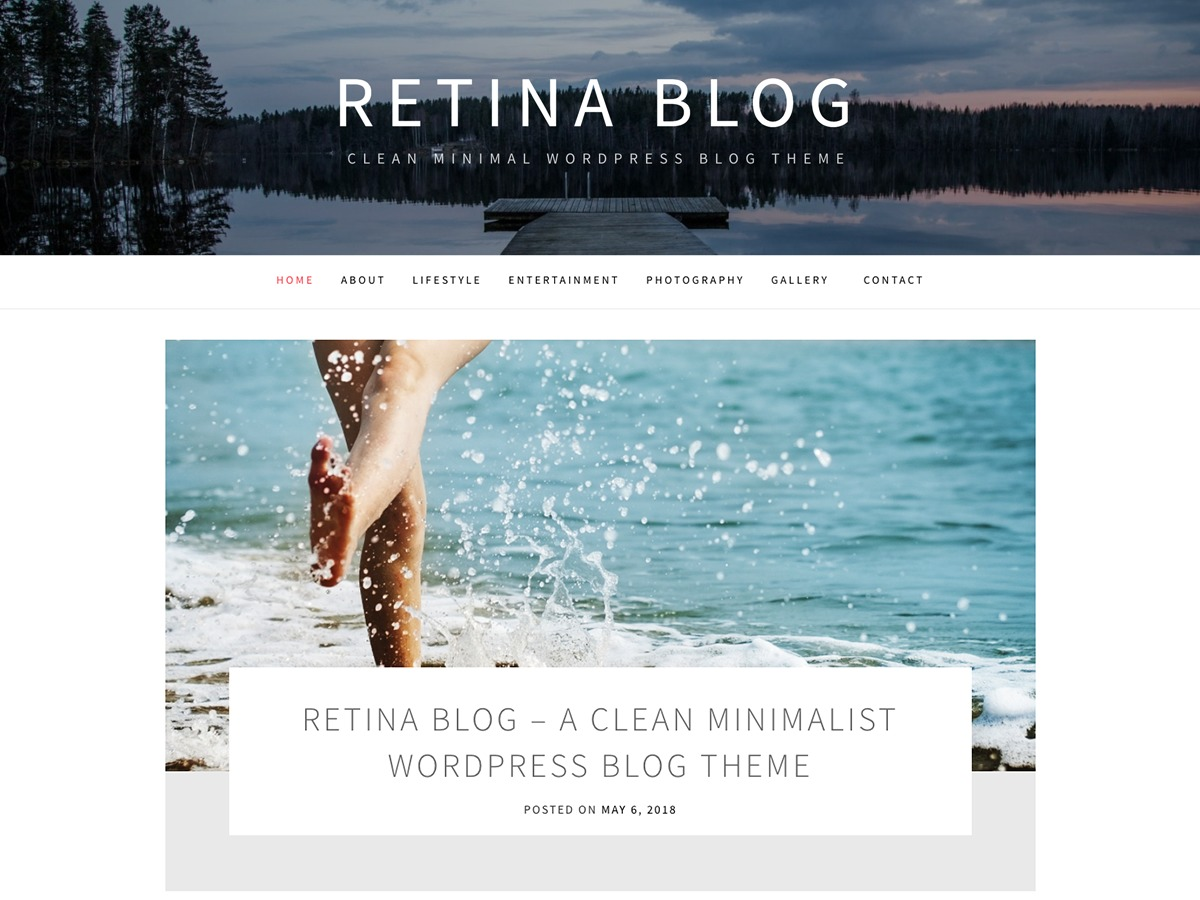 Retina Blog WordPress blog template