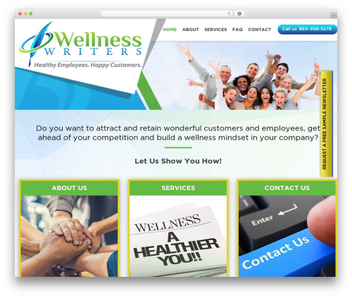 Twenty Sixteen WordPress theme free download - wellnesswriters.com