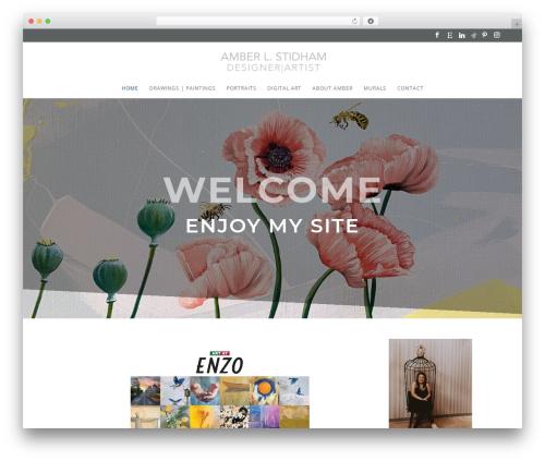 Divi WordPress template - amberleahart.com
