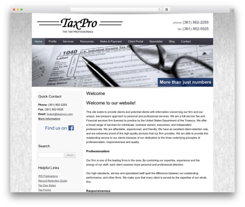 Best WordPress theme Customized - taxprocc.com