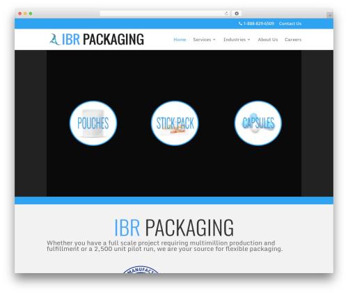 Divi top WordPress theme - ibrpackaging.com