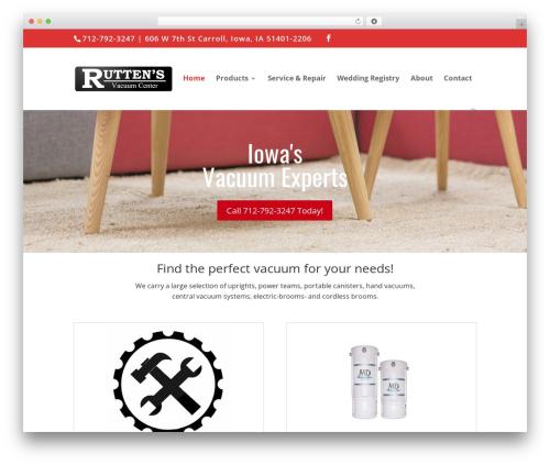 Divi WordPress template - ruttenvac.com
