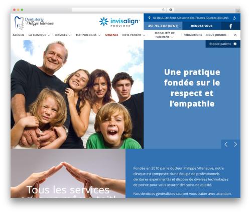 WordPress wp-plogg-website-customizer plugin - dentisteriephilippevilleneuve.com