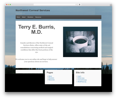 Responsive best WordPress template - nwcornealservices.com