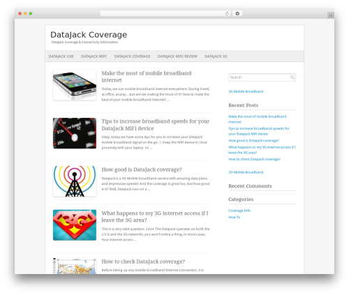 Theme WordPress Fresh And Clean - datajackcoverage.com