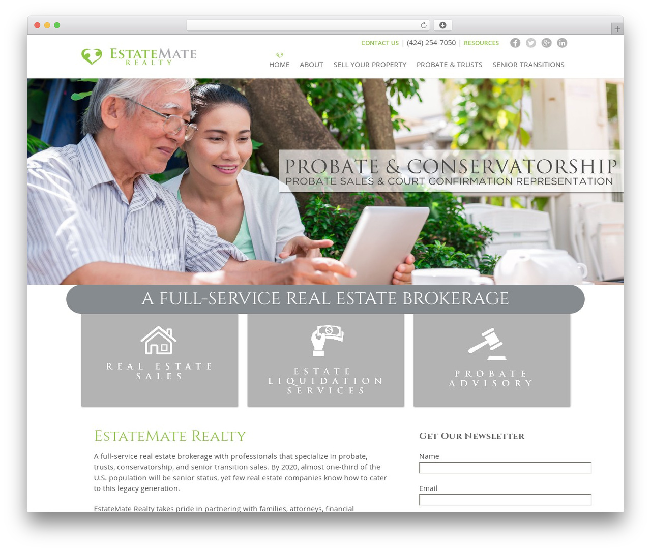 Theme WordPress template - estatematerealty.com
