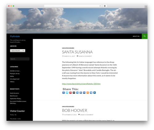 Twenty Fourteen template WordPress free - flyairdale.com