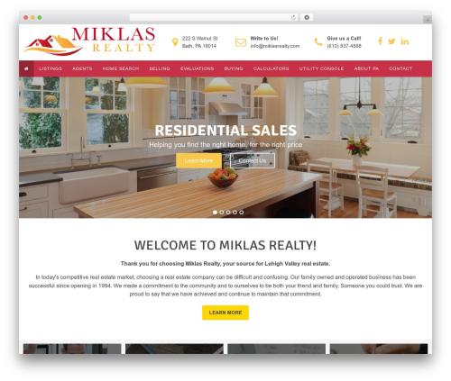WordPress template Winfield Theme - miklasrealty.com