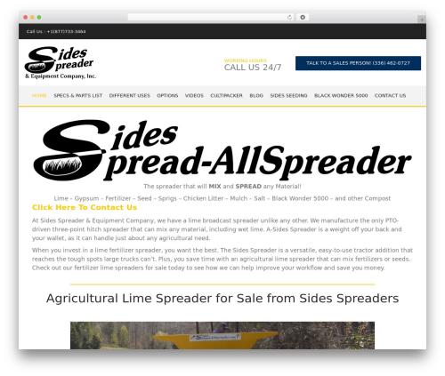 WordPress website template Baltimore - sidesspreaders.com