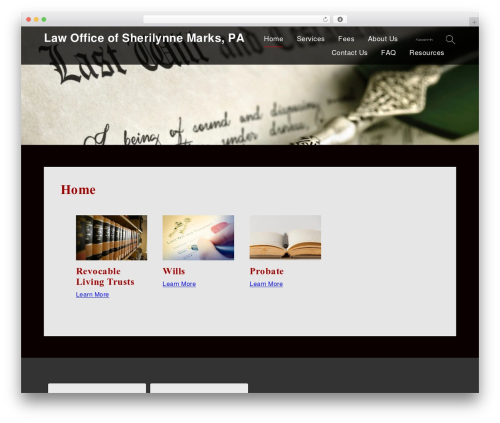 WP template Lawyer WP - sherimarkslaw.com