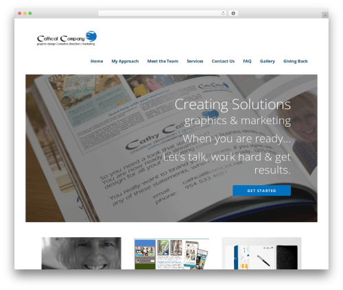 Ascension WordPress template for business - cathcalcreatingsolutions.com