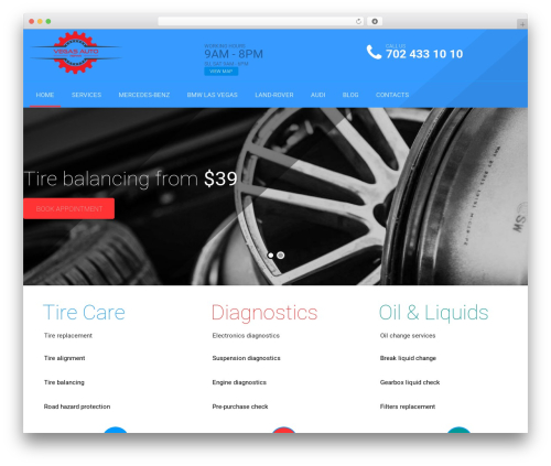 Best WordPress template autorepair - vegasautorepair.com